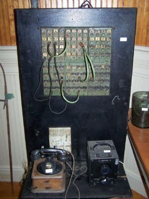 Old Southern Railroad Telephone Operator's Switchboard image. Click for full size.