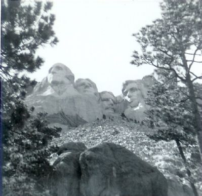 Mount Rushmore National Memorial, ca. 1963 image. Click for full size.