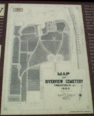 Map of Riverview Cemetery, Trenton, N.J. 1933 image. Click for full size.