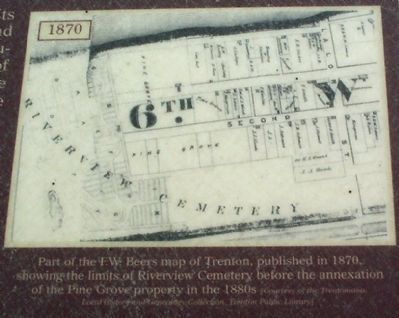 Part of the F.W.Beers map of Trenton, published in 1870, image. Click for full size.