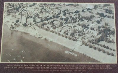 An aerial view of the southern section of Lamberton around 1925, image. Click for full size.