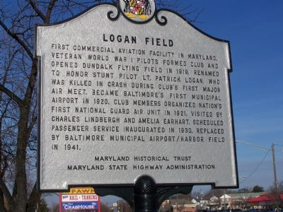 Logan Field Marker image. Click for full size.