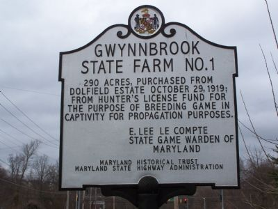 Gwynnbrook State Farm No. 1 Marker image. Click for full size.