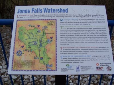 Jones Falls Watershed Marker image. Click for full size.