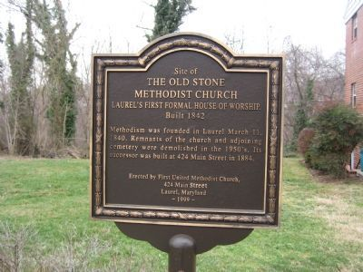 The Old Stone Methodist Church Marker image. Click for full size.