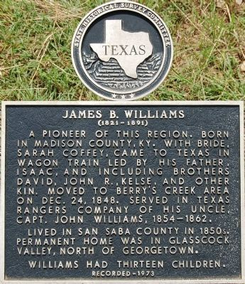 James B. Williams Marker image. Click for full size.