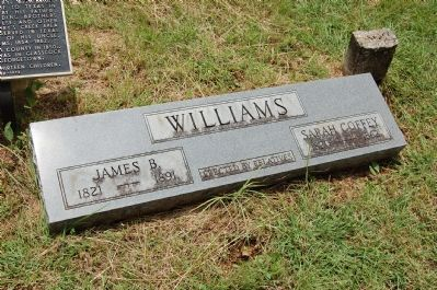 Grave of James B. Williams and Sarah Coffey Williams image. Click for full size.