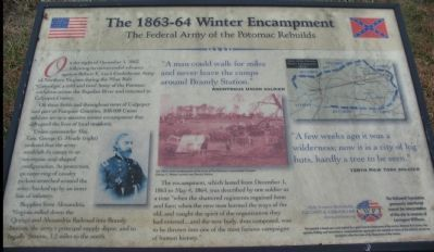 The 1863-64 Winter Encampment Marker image. Click for full size.
