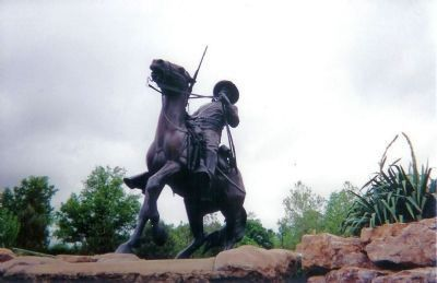 The Buffalo Soldiers Monument, Sculptured by Eddie Dixon image. Click for full size.