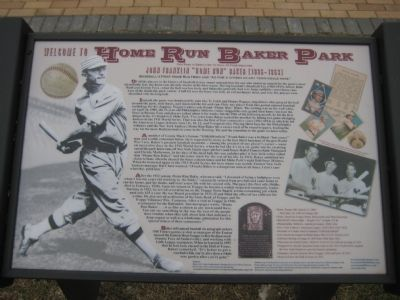 Home Run Baker Park Marker image. Click for full size.