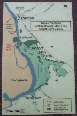 Native American Archaeological Sites in the Abbott Farm Vicinity image. Click for full size.