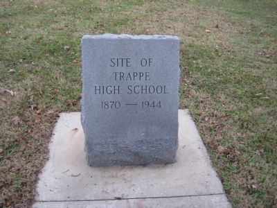 Site of Trappe High School Marker image. Click for full size.