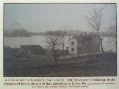 A view across the Delaware River around 1900; image. Click for full size.