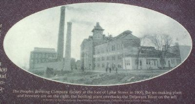 The Peoples Brewing Company facility at the foot of Lalor Street in 1900, image. Click for full size.
