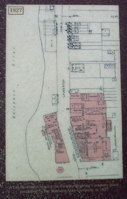 A fire insurance map of the Peoples Brewing Company plant image. Click for full size.