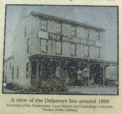 A view of the Delaware Inn around 1900 image. Click for full size.