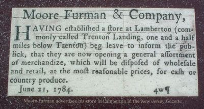 Moore Furman advertises his store image. Click for full size.