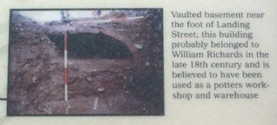 Vaulted basement near the foot of Landing Street, image. Click for full size.