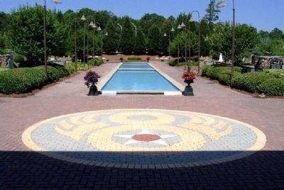 Museum Meditation Garden and Pool image. Click for full size.