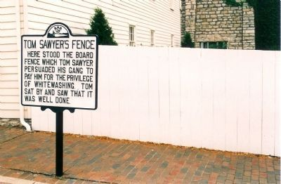 Tom Sawyer's Fence Marker image. Click for full size.