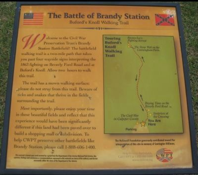 Battle of Brandy Station<br>Buford&#39;s Knoll Walking Trail image. Click for full size.