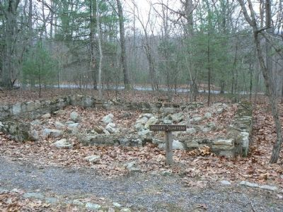 Remnants of Foundation of Camp Roosevelt Officers' Quarters image. Click for full size.