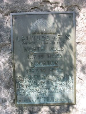 Latitude 45° N Marker image. Click for full size.