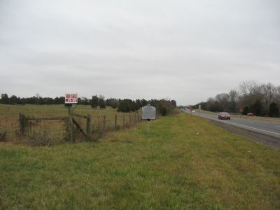 Looking northeast at the Marker along the Highway image. Click for full size.