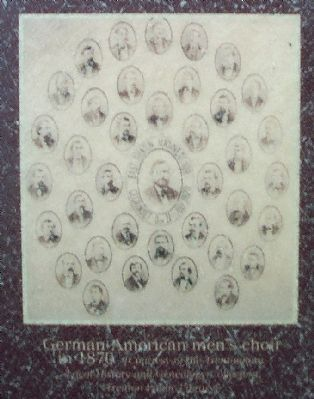 German-American men's choir in 1870 image. Click for full size.