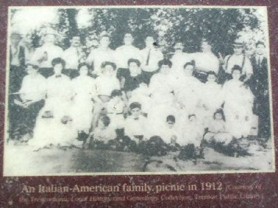 An Italian-American family picnic in 1912 image. Click for full size.