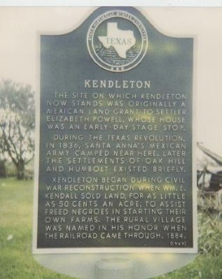 Kendleton Marker image, Touch for more information