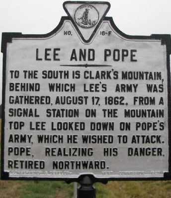 Lee and Pope Marker image. Click for full size.