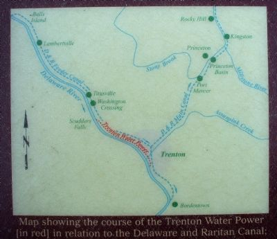 Map showing the course of the Trenton Water Power image. Click for full size.
