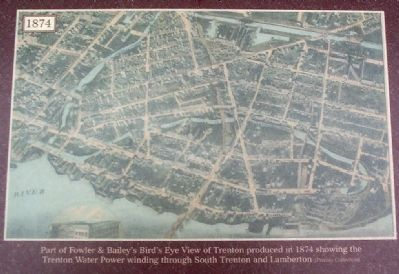 Part of Fowler & Bailey's Bird's Eye View of Trenton image. Click for full size.