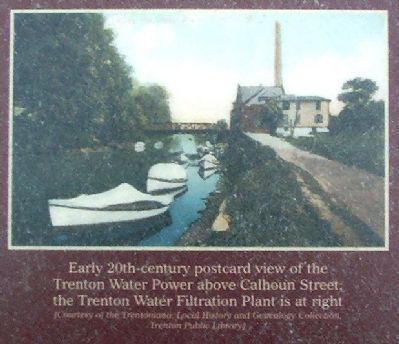 Early 20th-century postcard view of the Trenton Water Power image. Click for full size.