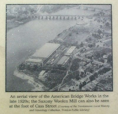 An aerial view of the American Bridge Works in the late 1920s; image. Click for full size.