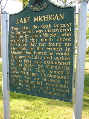 Lake Michigan Marker image. Click for full size.