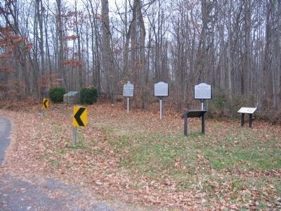 Several Markers at the Cedar Mountain Battlefield image. Click for full size.