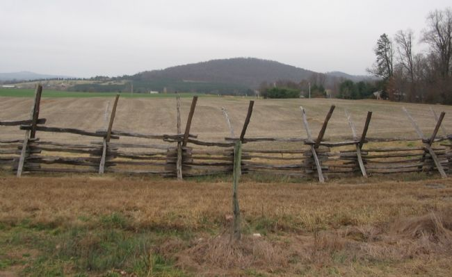 Looking East Across the Confederate Battle Line at Cedar Mountain image. Click for full size.