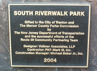 South Riverwalk Park Marker image. Click for full size.