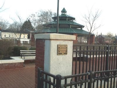 South Riverwalk Park Marker at Ramp Entrance image. Click for full size.