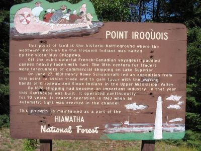 Point Iroquois Marker image. Click for full size.
