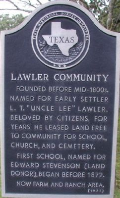 Lawler Community Marker image. Click for full size.