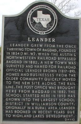 Leander Marker image. Click for full size.