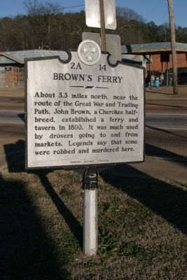 Brown's Ferry Marker image. Click for full size.