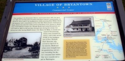 Village of Bryantown Civil War Trails Marker image. Click for full size.