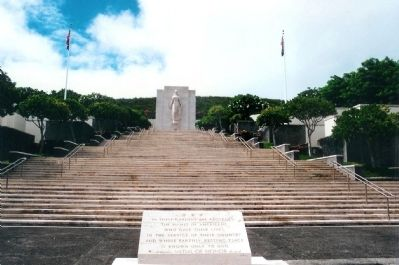 The Honolulu Memorial at the National Memorial Cemetery of the Pacific Marker image. Click for full size.