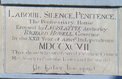 The Penitentiary House Marker image. Click for full size.