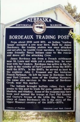 Bordeaux Trading Post Marker image. Click for full size.