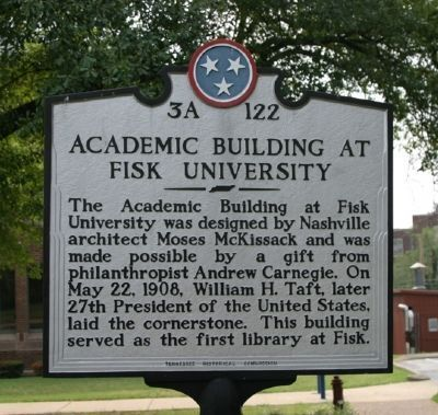 Academic Building At Fisk University Marker image. Click for full size.